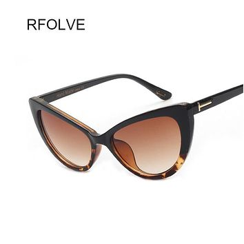 RFOLVE Hot New Designer Women Glasses Inspired Sun Glasses Cateye Women Oversize Cat Eye Celebrity Sunglasses UV400 RF8806