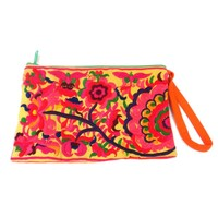 Groovy Wristlet Purse - Yellow
