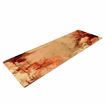 "Ebi Emporium ""Winter Dreamland 7"" Orange Maroon Yoga Mat"