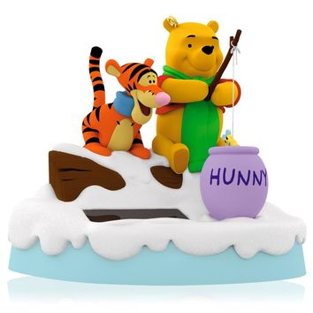 Disney Winnie the Pooh and Tigger Ice Fishin' Friends Ornament
