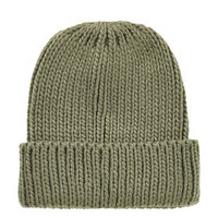 Fisherman Knit Beanie - Khaki