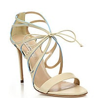 Casadei - Butterfly Cut-Out High-Heel Leather Sandals - Saks Fifth Avenue Mobile