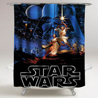 star wars custom shower curtain decorative shower curtain size 36x72,48x72,60x72,66x72