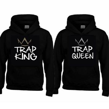 Trap KING - Trap QUEEN Hoodies+Your name or other text