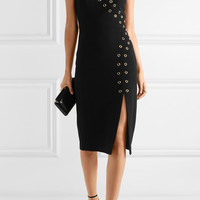 Rebecca Vallance - Adriatic eyelet-embellished crepe midi dress