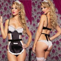Popular Sexy French Maid Lingerie Costume