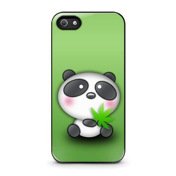 CUTE PANDA BEAR iPhone 5 / 5S / SE Case Cover