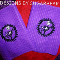 Jack Skellington - Nightmare Before Christmas Towel Set - Embroidered BOUTIQUE CUSTOM Set FaBULOUS - Designs by Sugarbear