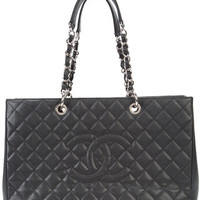 Chanel Vintage Extra Large Grand Shopping Tote - Farfetch