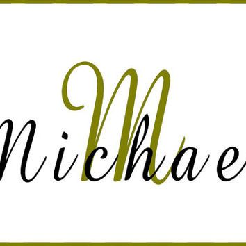 Custom Vinyl Monogram family name  Decal Personalized Initials Car wall decal DIY easy to install