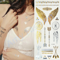 1Pcs Body Paint makeup gold tattoo flash tattoos temporary tattoo makeup metalic tatto body bronzer maquillaje face paint
