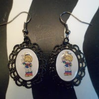 Rainbow Brite cameo earrings