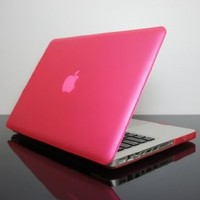 "TopCase PINK Rubberized Crystal See Thru Satin Hard Case Cover for Macbook Pro 13-inch 13"" (A1278/with or without Thunderbolt) -NOT for retina display- with TopCase Mouse Pad"