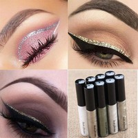 2017 Liquid Glitter Eyeliner Eyeshadow Shiny Waterproof Long Lasting Eye Makeup Fashion Cosmetic Christmas Gift QD112001