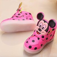 Very Cute Mickey Mouse Baby Toddler Kids Led Lights Shoes Unisex - Smoky Mountain Boutique