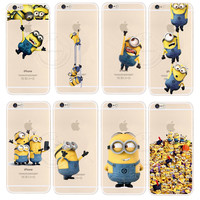 New Arrival Minions Case Cover For Apple iPhone 6 6S Super Cute Design Cases For iPhone6 iPone 6 4.7 inch Cover