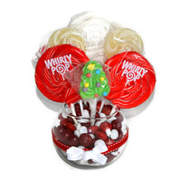 Small Round Lollipop Candy Christmas Centerpiece great for candy buffets!