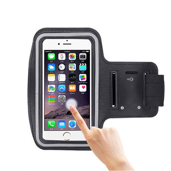 5.8 inch faux leather Sport Armband for iphone 6 plus for Samsung 6 and other mobile phone