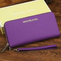 Michael Kors Women Leather Zipper Wallet Purse-8