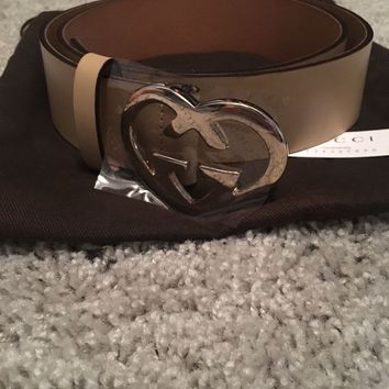 Gucci belt beige