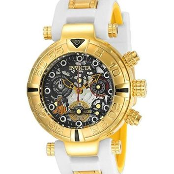 Invicta 24520 Women's Disney Limited Edition Quartz Stainless Steel and Silicone Casual White Watch