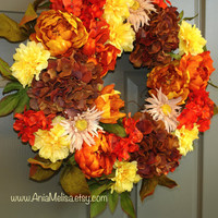 fall wreaths autumn welcome wreaths front door wreaths decor Thanksgiving outdoor wreaths fall wedding wreaths
