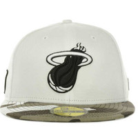 Miami Heat NBA Hardwood Classics Fighter Camo Fitted 59FIFTY Cap