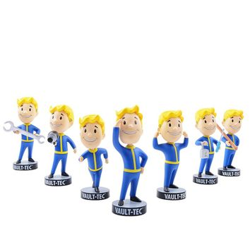 13CM Gaming Heads Fallout 4 Vault Boy TOY Bobbleheads Series 1 Animal Action Figure collectible model toys brinquedos Dolls