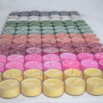 12 Pack Tea light Palm wax candles