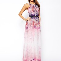 Little Mistress Maxi Dress in Ombre Floral Print