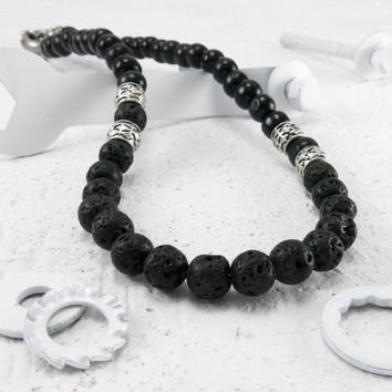 Men Necklace - Men Beaded Necklace - Men Choker Necklace - Men Jewelry - Men Gift - Boyfriend Gift - Husband Gift - Guys Jewelry