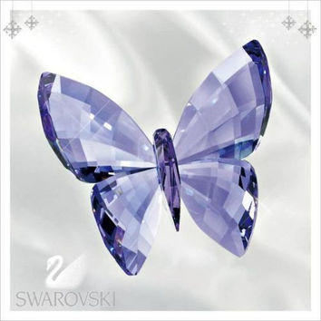 Swarovski Colored Crystal Figurine Butterfly Provence Lavender #5155714 Box New