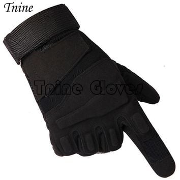 Men's Army Gloves Man Full finger gloves Military police Safety Gloves Speed dry Anti-Slip Leather Tactical Gloves