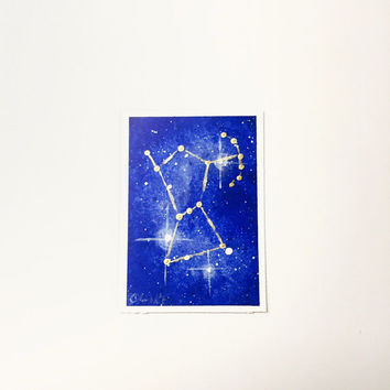 Stars Artist Trading Card, Orion Constellation, Original Acrylic Painting ACEO