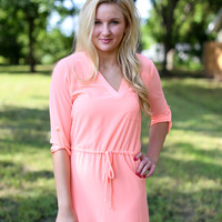 Dream Come True Tunic Dress - Light Neon Pink