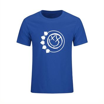 Hot Sale Mens T Shirts Blink 182 Printed Costume T-shirts Summer Male O Neck Short Sleeve New Tops Tees Music Band Dress Homme
