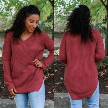 PERFECT PICK SWEATER - BERRY