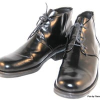 COLE HAAN Ankle Boots Womens Brazil Leather Black Size 10 B