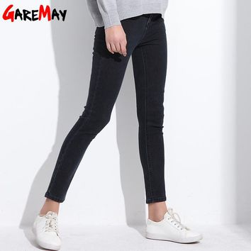 High Waist Jeans For Women Jean Thin Trousers Pencil Pants Blue Skinny Female Stretch Jean Woman
