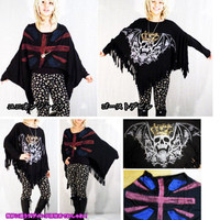Rakuten: ★A sale! ★Heteromorphic デザインゴスロリ Harajuku system served with a cut-and-sew pullover T-shirt material tunic devil & Union Jack dolman style- Shopping Japanese products from Japan