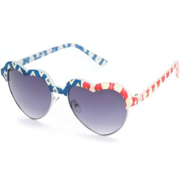 Club Sugar Geo Americana Heart Sunglasses
