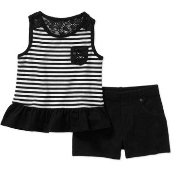 Garanimals Baby Toddler Girl Pocket Tank and Shorts Outfit Set - Walmart.com