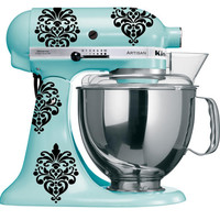 Small Vinyl Damask Decals for KitchenAid Mixer- FREE SHIPPING