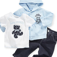 GUESS Baby Set, Baby Boys 3-Piece Teddy Bear Set