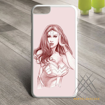 Wonder Woman pink art Custom case for iPhone, iPod and iPad