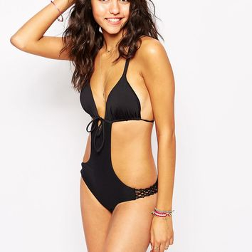 Oysho Cut Out Swimsuit