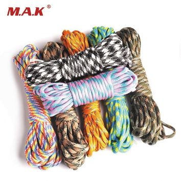 550 Paracord Parachute Cord Lanyard Accessories Mil Spec Type III 7 Strand Survival Rope for Climbing Camping