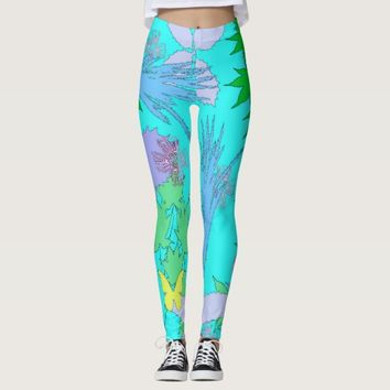 Floral Pattern Leggins Leggings