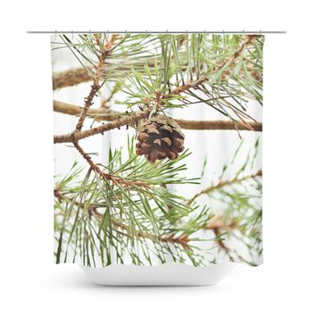 Pine Cone Shower Curtain