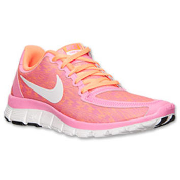 womens nike free run 5.0 v4 red gold